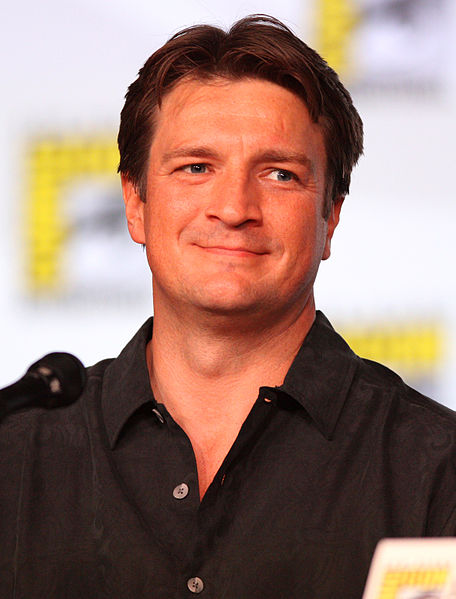 Nathon Fillion at Comic-Con, Photo by Gage Skidmore.