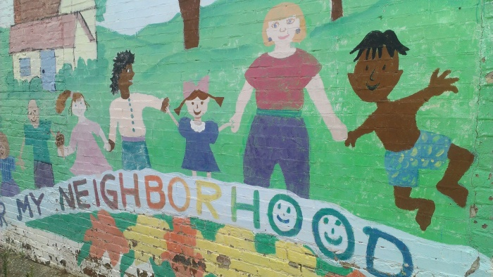 A mural showing what Decatur strives to be.