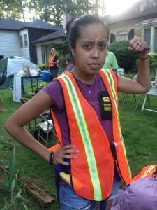 Mariam Asad at the home of Mark Harris. Source: Occupy Our Homes Atlanta.
