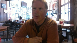 Charles McNair during our recent interview at Manuel's Tavern in Atlanta.