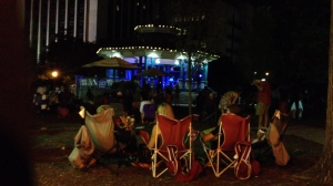 Atlanta Funk Society under the stars in Decatur