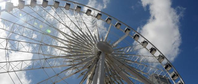 Atlanta, too busy to explain why we need a giant Ferris wheel downtown or why it costs fifteen bucks to ride it. It does look pretty sweet, though. (Photo source: Atlantaga.gov)