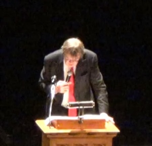 Garrison Keillor at Agnes Scott on Oct. 29.