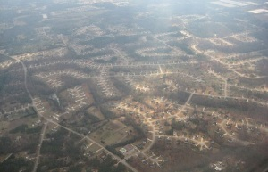 Atlanta's suburbs as seen by an airline passenger in 2008. Source: Wikimedia
