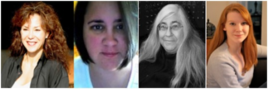 Featured poets, left to right, Cecilia Woloch, Jessie Carty, Helen Losse and Erica Wright