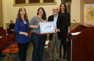 Judy Knight, SEEA Lena Stevens, Resource Conservation Coordinator, Decatur Mayor Jim Baskett, Decatur Eileen Nebhut, SEEA