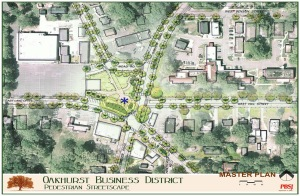 An artist's depiction of the Oakhurst streetscape project. Source: Decaturga.com