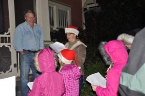 Dec. 23, 2013: Lenox Place residents entertain their neighbor with a Christmas Carol