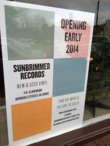 Sunbrimmer Records at 4 Clarendon Ave. in Avondale Estates.