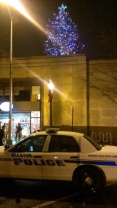 The tree on top of Little Shop of Stories in Decatur. The tree lighting ceremony was Dec. 5.