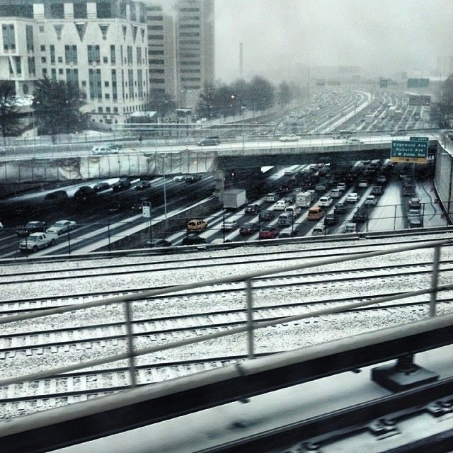 Photo of the downtown connector, as seen from MARTA. By Catie Leary