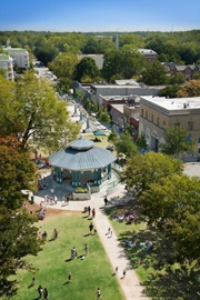 A photo of the tree-covered Decatur Square. Source: Decaturga.com.