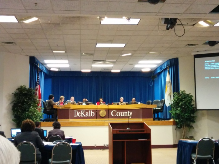 DeKalb County Board of Commissioners meeting, Jan. 14, 2014.