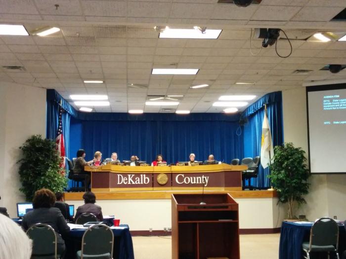 DeKalb County Board of Commissioners meeting, Jan. 14, 2014.