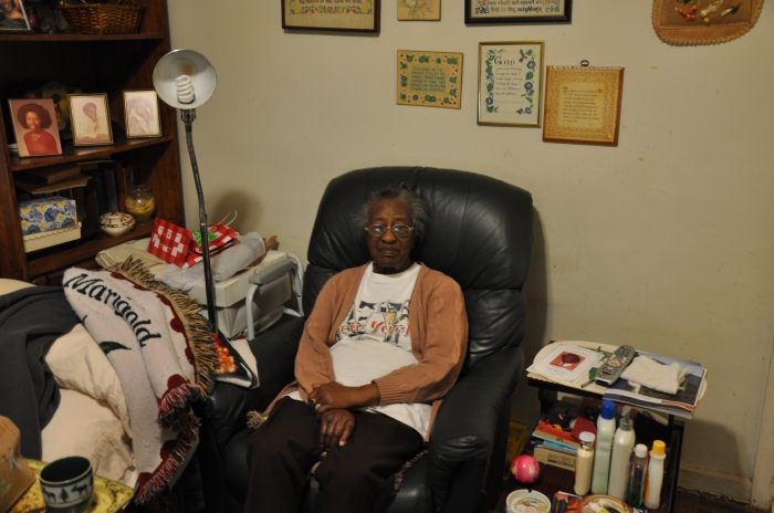 Willie Mae Murray, 89, has lived in her home on East Pharr road for 47 years. Her home was one of 24 rehabilitated during Decatur's annual MLK Service Project that ended Jan. 20, 2014.