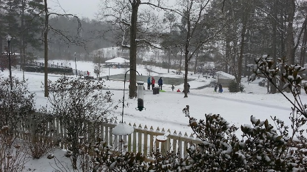 Kids playing at Glenlake Park in Decatur. Photo by Chris Billingsley.