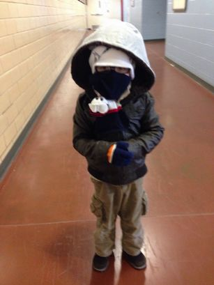 Jedi Master Yoda dresses for a covert operations mission. Photo from the City Schools of Decatur website.